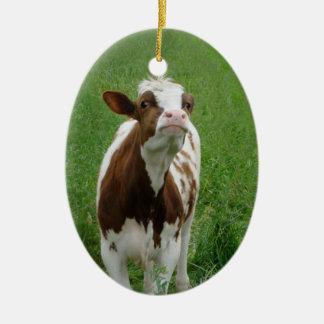 Dairy Milk Cow on the Farm Christmas Ornament