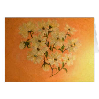 Daises Bathed In Morning Sun Greeting Card