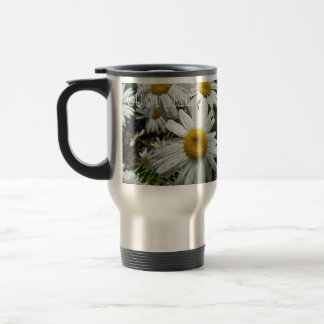 Daisies After the Rain; Customizable Stainless Steel Travel Mug