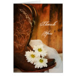 Daisies and Boots Bridesmaid Thank You Card