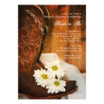 Daisies and Boots Country Bridal Shower Invitation