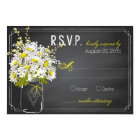 Daisies and Chalkboard RSVP Card