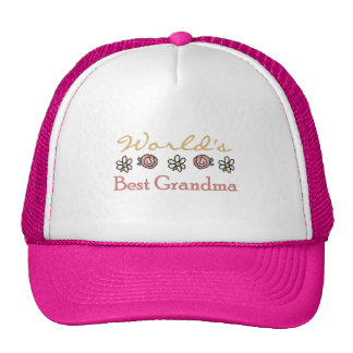 Daisies and Roses World Best Grandma Hat