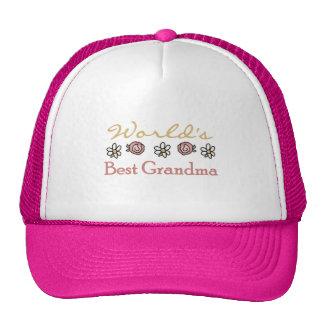 Daisies and Roses World's Best Grandma Mesh Hats