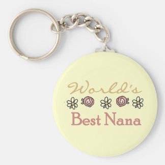 Daisies and Roses World's Best Nana Tshirts Key Ring