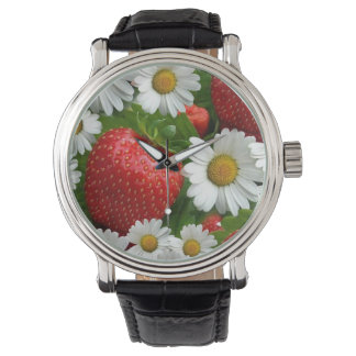 Daisies and Strawberries Watch