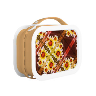 Daisies background lunch box