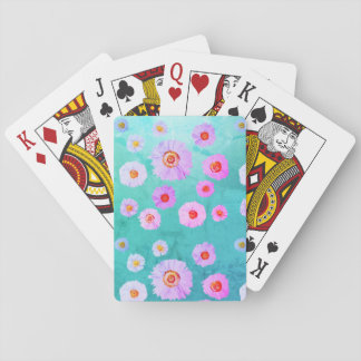 Daisies Blue  Playing Cards