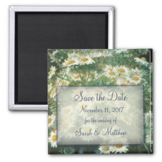 Daisies Bouquet Wedding Save the Date Magnet