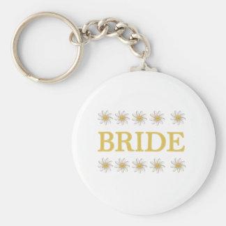 Daisies Bride Keychain