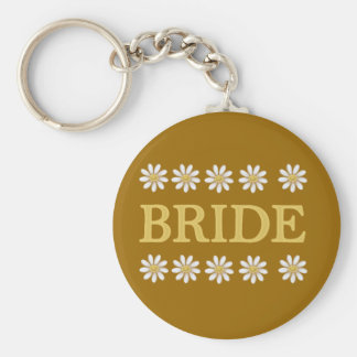 Daisies Bride T-shirts and Gifts Key Chain
