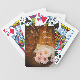 Daisies Cowboy Boots Country Western Wedding Poker Deck