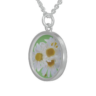Daisies Digitally Painted Pendant