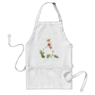 Daisies Floral Botanical Flowers Apron