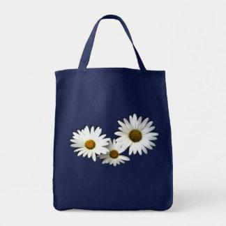 daisies grocery tote bag