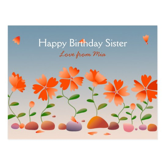 Daisies Happy Birthday Postcard