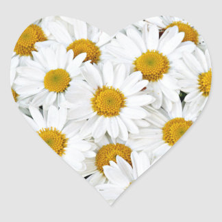 Daisies Heart Sticker