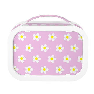 Daisies I On Pink yubo Lunch Box (Customize it)