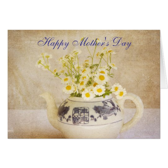 Daisies in a Teapot Mother's Day Card