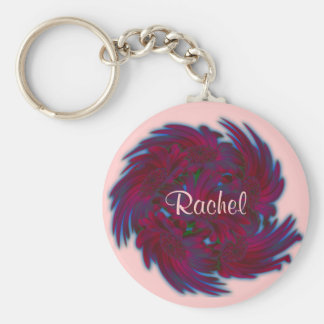 Daisies in a Whirlwind Key Ring