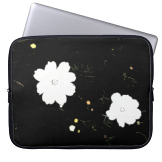 Daisies in Black Ink Neoprene Laptop Sleeve