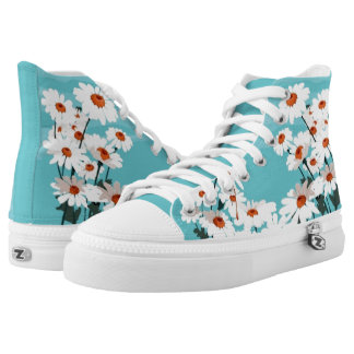 Daisies in the Breeze High Tops
