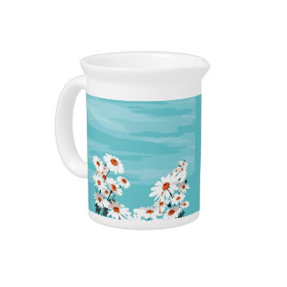 Daisies in the Breeze Pitcher