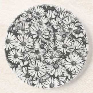 daisies in the garden coaster