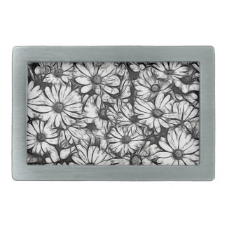 daisies in the garden rectangular belt buckles
