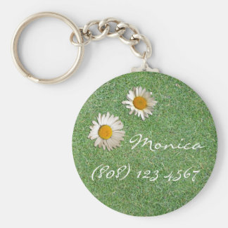 Daisies in the Grass Key Ring