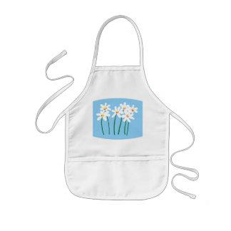 daisies kids apron