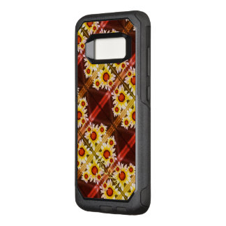 Daisies monogrammed orange OtterBox commuter samsung galaxy s8 case