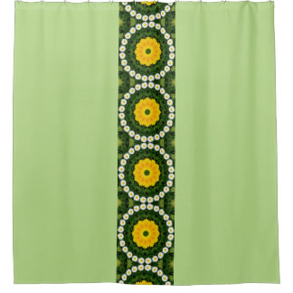 Daisies Nature, Flower-Mandala 002 Shower Curtain