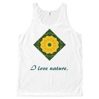 Daisies Nature, Flower-Mandala All-Over Print Tank Top
