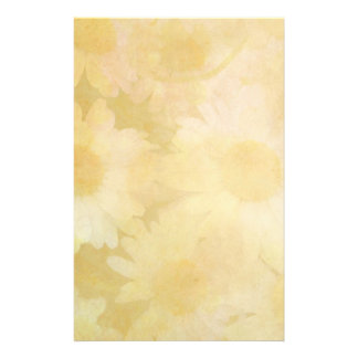 Daisies on a Faded Yellow Background Stationery