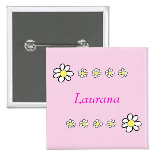 Daisies on a Pink Background 15 Cm Square Badge