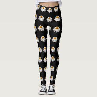Daisies on black leggings
