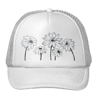 Daisies on Blue Mesh Hats