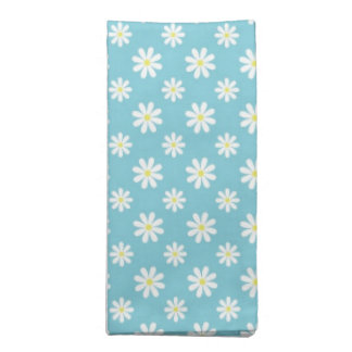 Daisies on Blue Pattern Printed Napkins