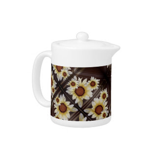 Daisies on brown