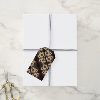 Daisies on brown gift tags