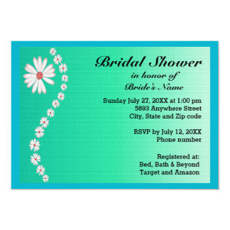 Daisies on Green Background Bridal Shower Invite
