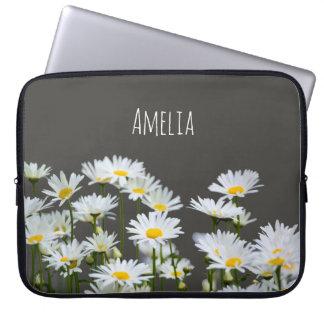 Daisies on Grey Computer Sleeves