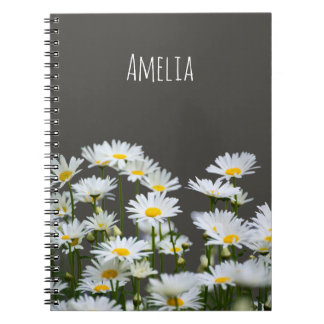 Daisies on Grey Notebook