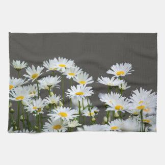 Daisies on Grey Tea Towel