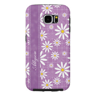 Daisies on Plaid Samsung Galaxy S6 Cases