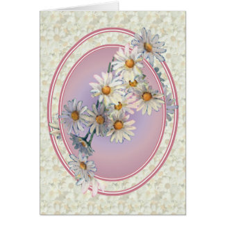 DAISIES & OVALS by SHARON SHARPE Card