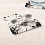 Daisies Paper Coasters Square Paper Coaster