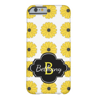 Daisies Pattern And Monogram Barely There iPhone 6 Case