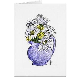 Daisies - Pen & Ink Card